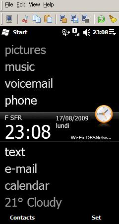 Ecran d'accueil de mon smartphone