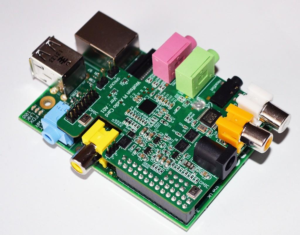 La Wolfson Audio Card installée sur un RaspberryPi