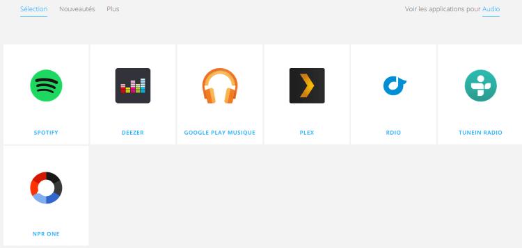 La liste d'applications compatibles est mince mais de qualité. j'ai hâte de voir les prochaines !