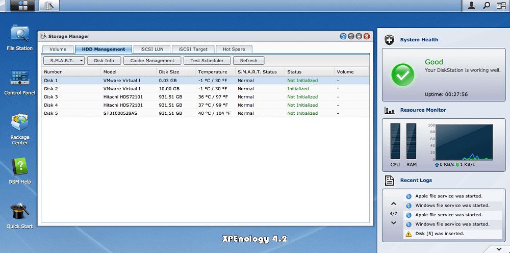 XPEnology : une interface bien léchée qui permet de tout faire en quelques clics.