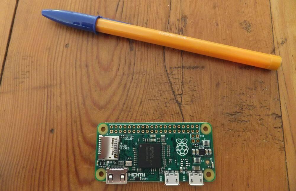 Le RaspberryPi Zero, pour moi le modèle idéal pour les hacks d'objets avec ses dimensions minuscules