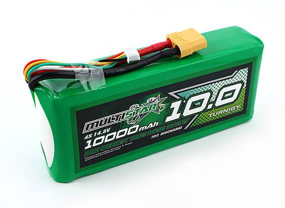 Un pack lithium-polymère 4S de 10Ah. Il en faudra 2 comme ça en série pour atteindre la tension désirée.