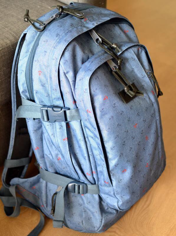 Mon sac à dos Eastpack Evanz chargé et prêt à aller affronter un weekend de 3 jours à Milan !